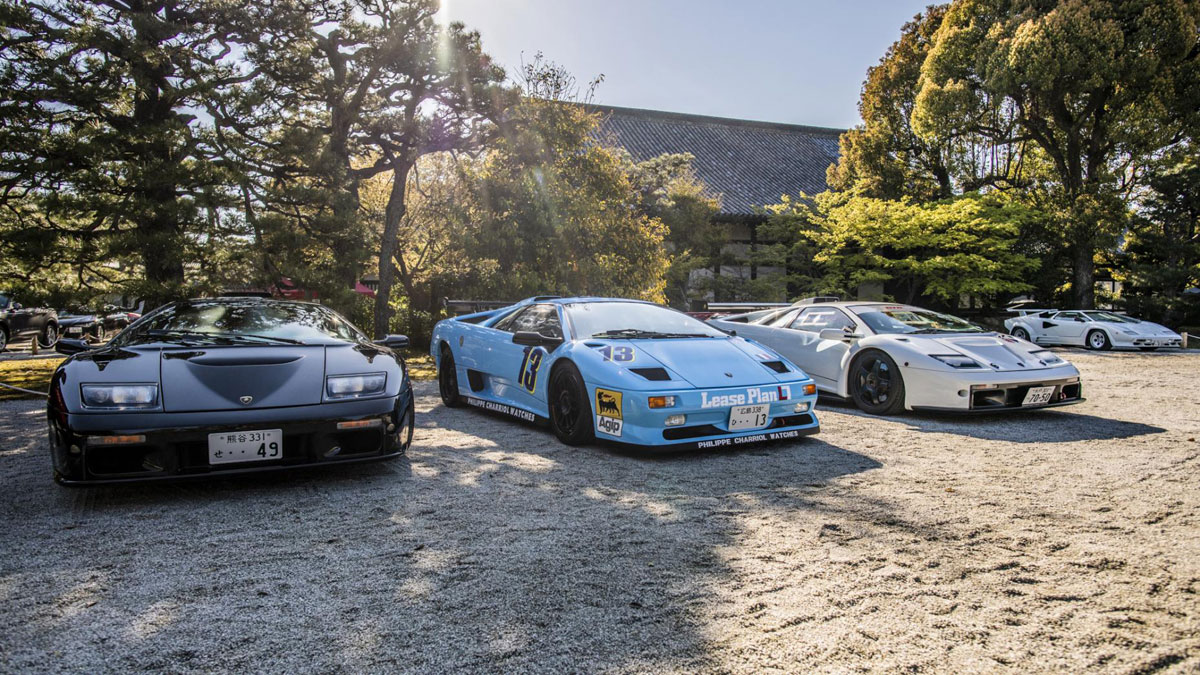 Classic Lamborghinis From The 2019 Kyoto Concours In Japan
