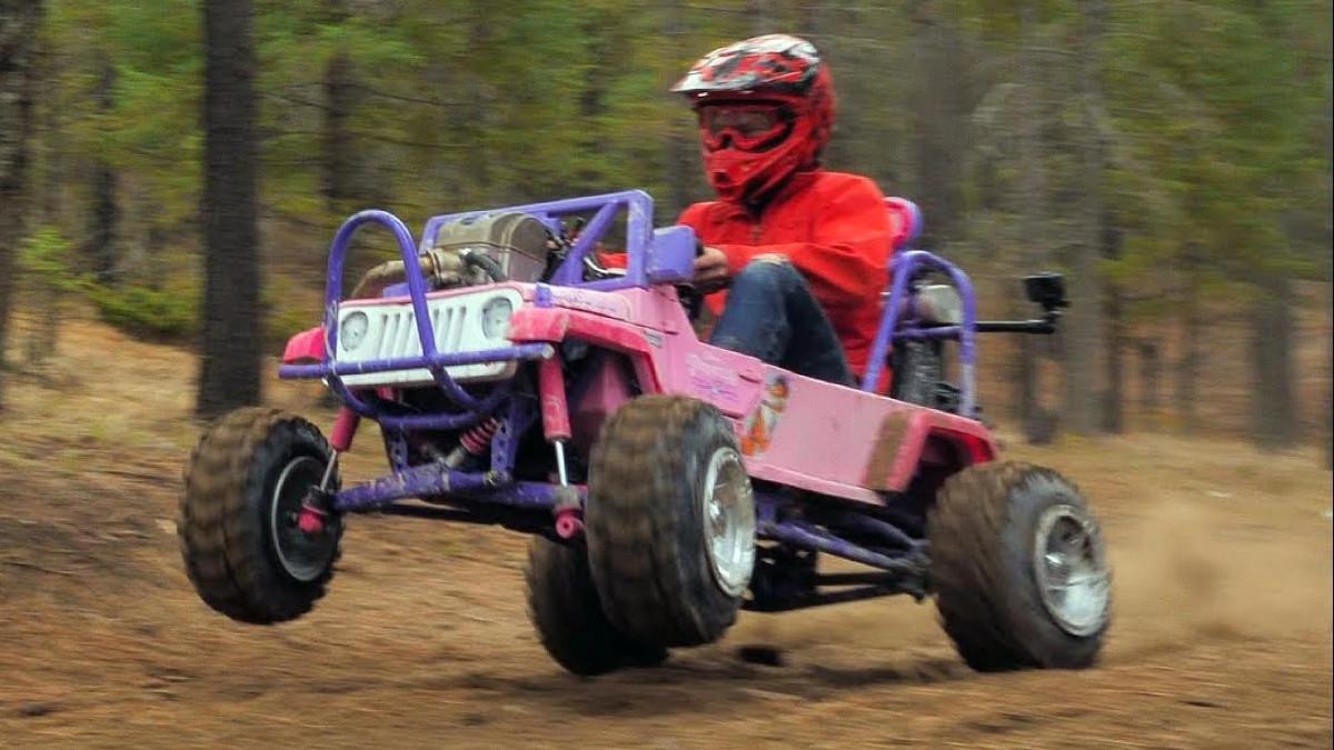 Barbie Electric Car: Testing A Power Wheels Barbie Off-road Kart