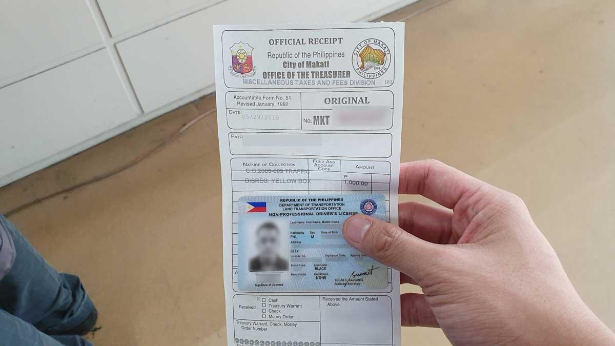 Paying a traffic violation fine at Makati City Hall