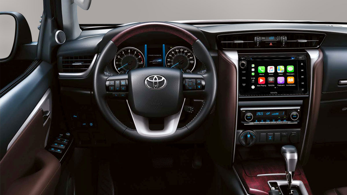 The 2019 Toyota Fortuner gets Apple CarPlay and Android Auto