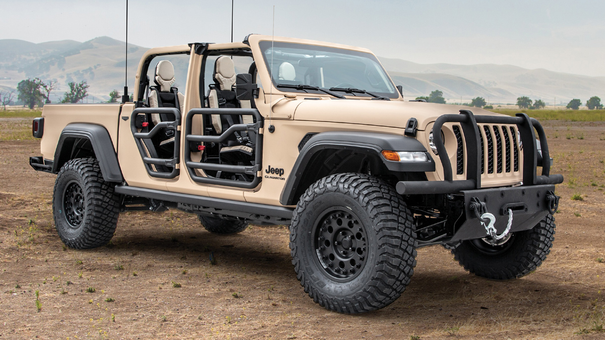 The Jeep Gladiator Xmt Is A Military Pickup Truck