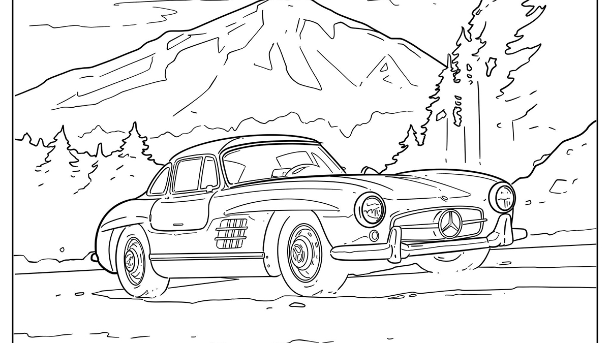 Covid 19 Mercedes Benz Wants You To Color Its Cars To Pass Time