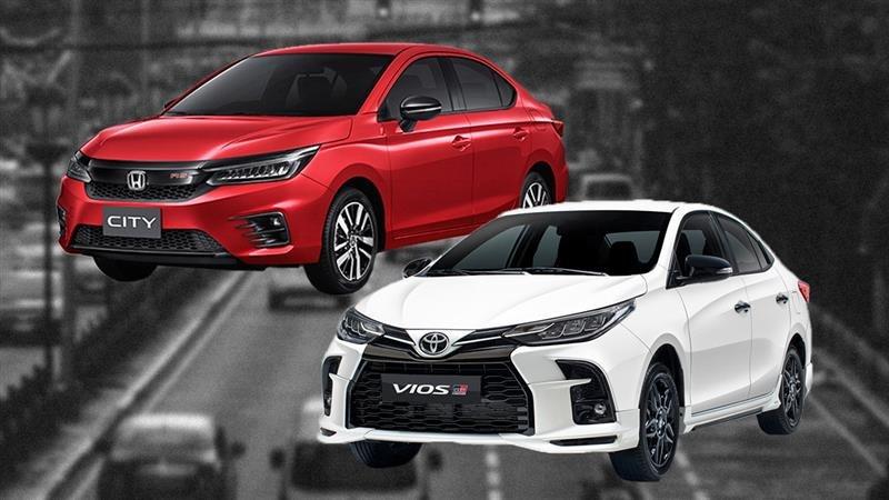 2021 Toyota Vios GR-S, Honda City RS: Comparo, Specs, Prices