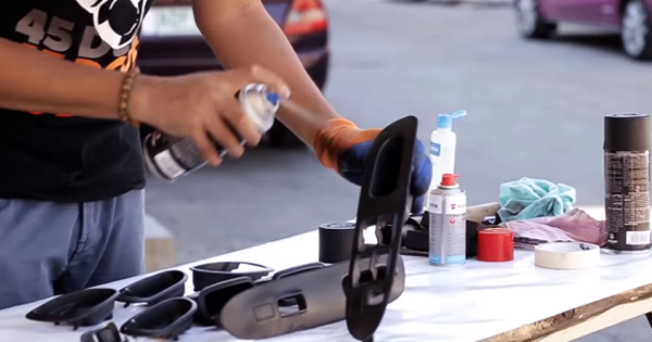 We restore our car's panel and trim pieces using vinyl-dye ...