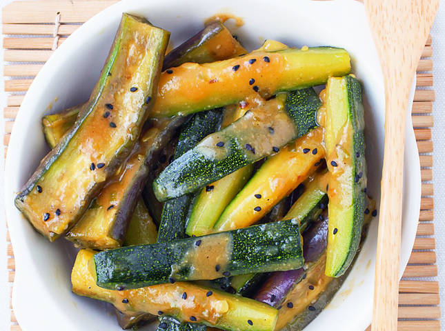Zucchini And Eggplant With Miso Recipe