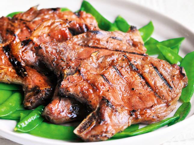 Grilled Char Siu Pork Chops