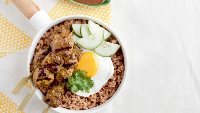 chicken satay with nasi goreng recipe