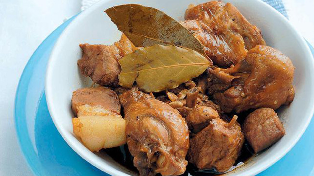 classic chicken and pork adobo