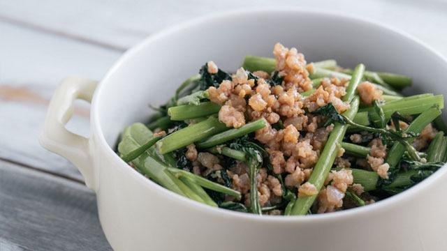 Minced Pork With Kangkong Recipe