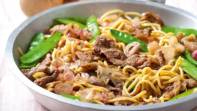 Beef And Mushroom Noodle Stir Fry Recipe