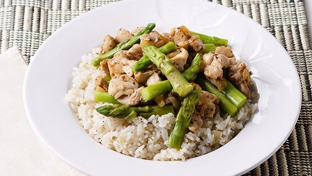 Chicken And Asparagus Rice Bowl Recipe