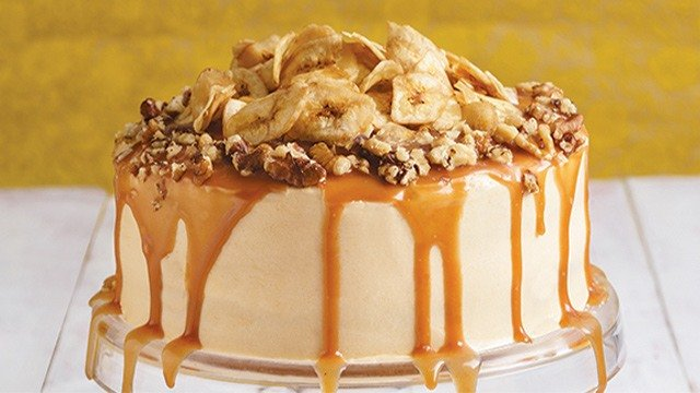 Banana Cake With Salted Caramel Cream Cheese Frosting Recipe