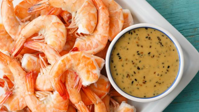 Steamed Shrimp With Sesame Mayo Dip Recipe