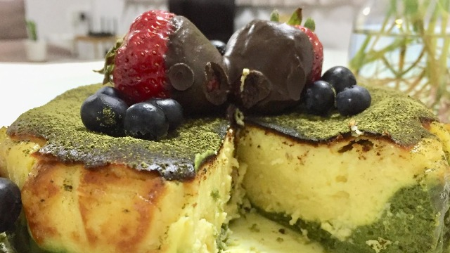Durian Matcha Basque Burnt Cheesecake Recipe
