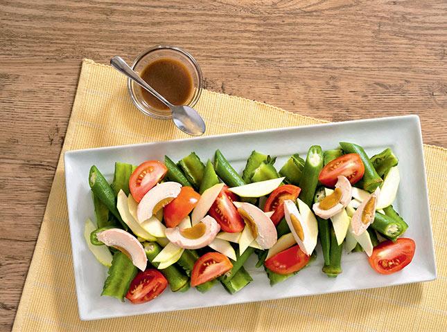 Pinoy Salted Egg Veggie And Bagoong Salad Recipe