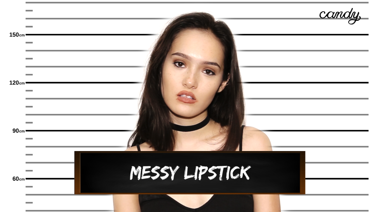 Beauty Crimes: Messy Lipstick
