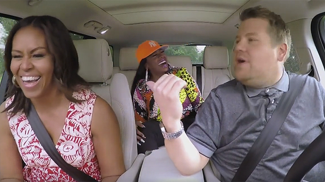 Michelle Obama, James Corden, and Missy Elliot are All About Girl Power in the New Carpool Karaoke