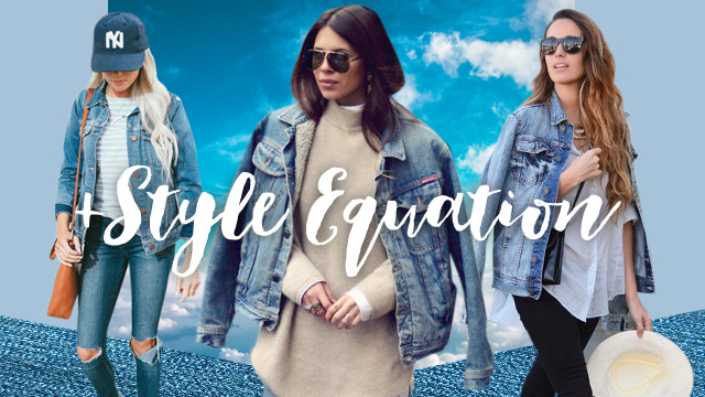 Style Equation: Denim Jacket And Distressed Jeans