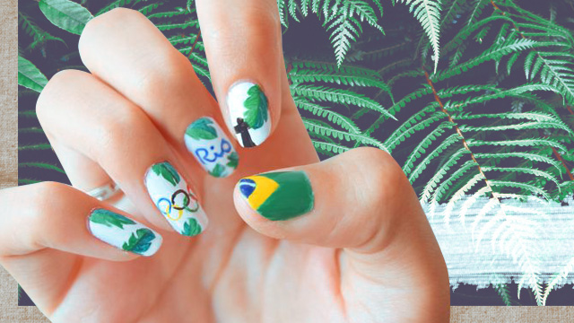 The Coolest #Rio2016-Inspired Nail Art We've Seen So Far