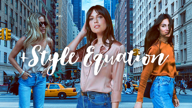 Style Equation: Denim And Silk