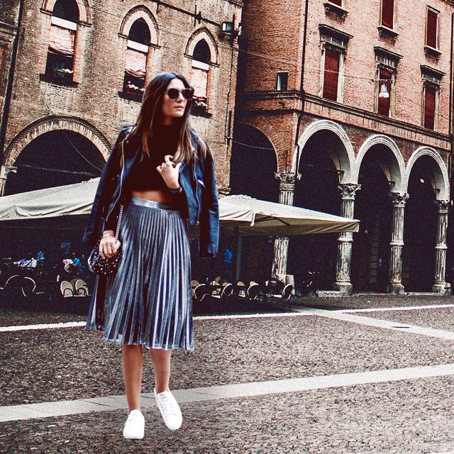 Style Equation: Pleated Skirt and White