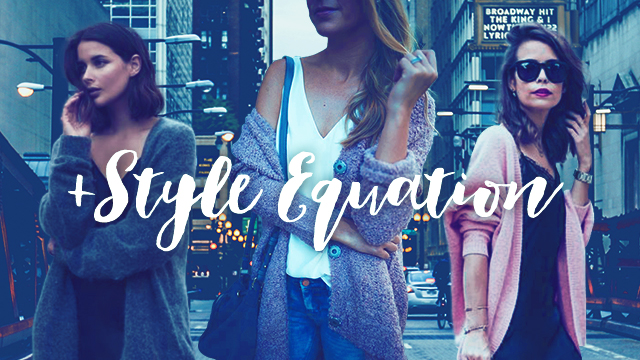 Style Equation: Oversized Cardigan And Cami