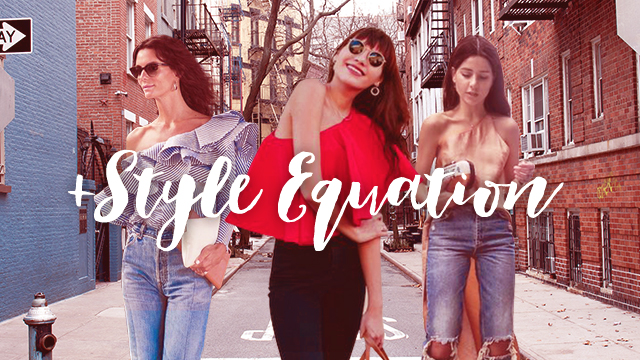 Style Equation: One Shoulder Top and Denim