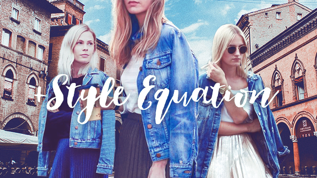 Style Equation: Denim Jacket And Midi Skirt