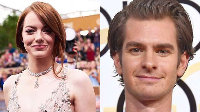 Andrew Garfield Was Mighty Proud of Emma Stone at the #GoldenGlobes