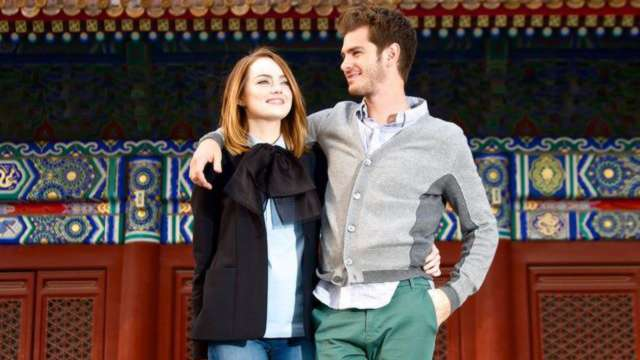 HUHU, Emma Stone and Andrew Garfield Were Photographed Hugging Each Other!