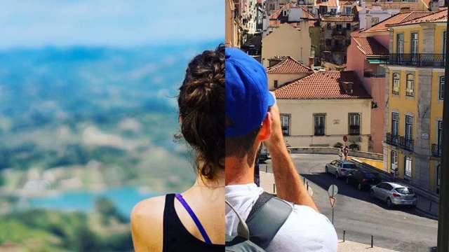 This LDR Couple Matches Their Travel Photos To Feel Closer