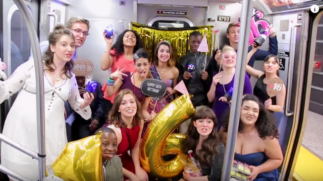 These Girls Threw a Surprise Party for Their Friend Inside a Train