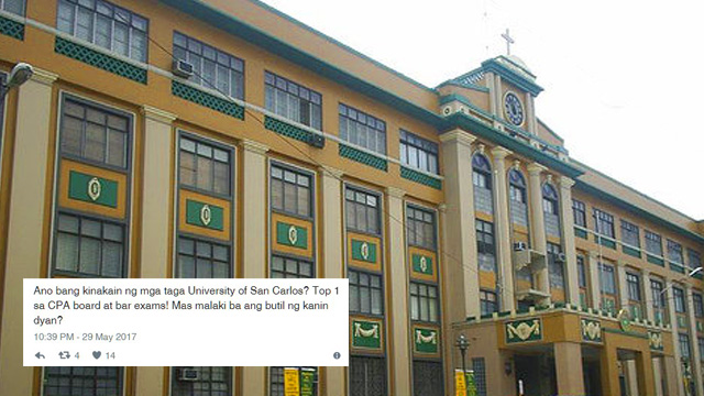 Funny Tweets About University of San Carlos' Topnotchers