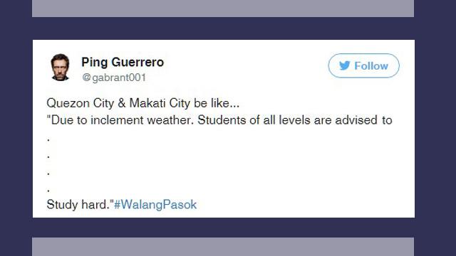 8 Funny Tweets About #WalangPasok