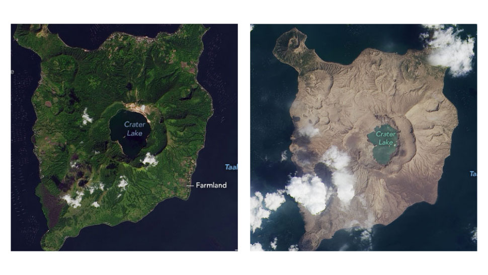 NASA Just Took Photos Of Taal's Ash-Damaged Volcano Island