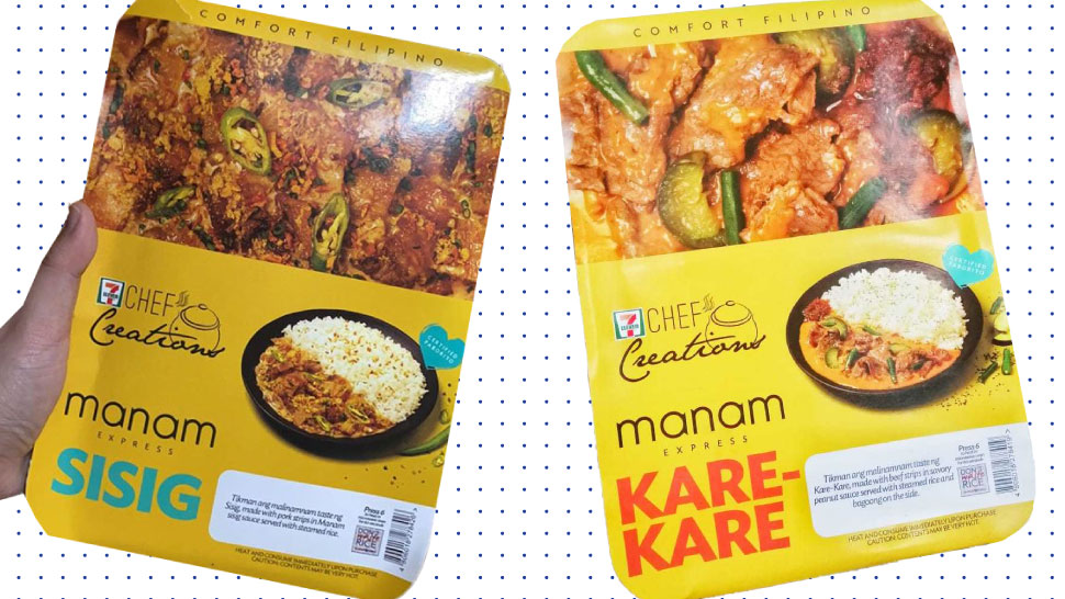 PSA: You Can Now Get Manam Sisig, Kare-Kare At 7-Eleven!