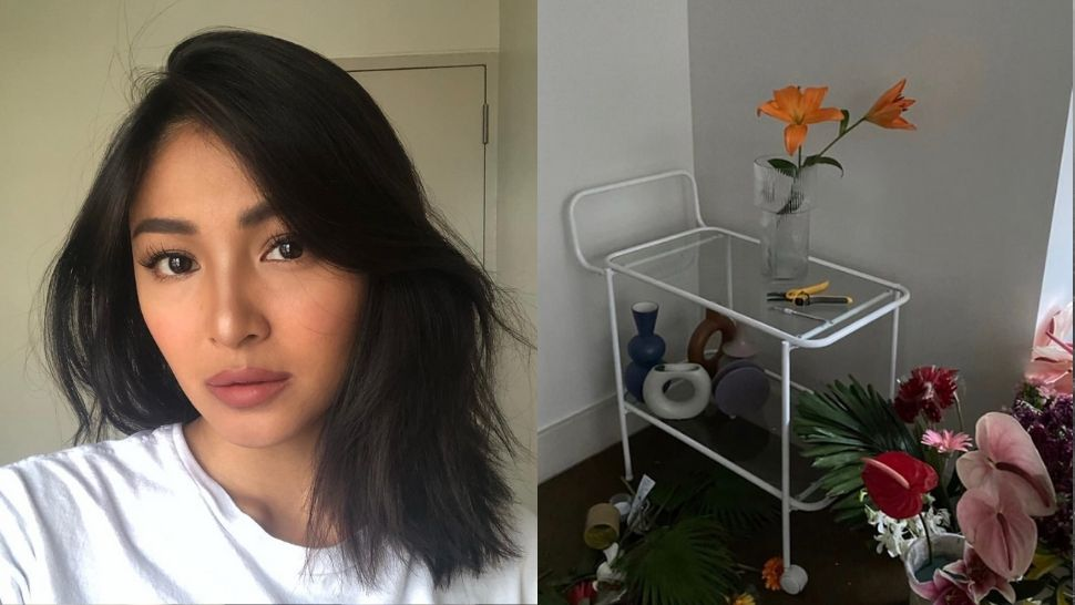 Let Nadine Lustre's Aesthetic Floral Arrangement At Home Inspire Your DIY Project