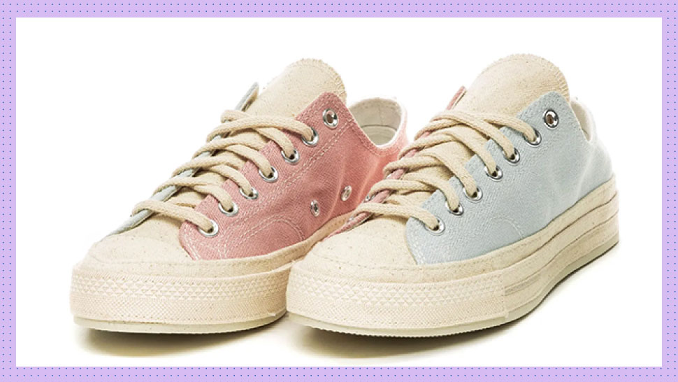 Whoa, These Pastel Converse Sneakers Are Made From Recycled Canvas