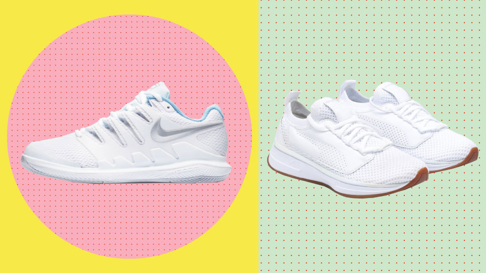 Minimalist White Running Shoes You Can Also Wear With Dresses