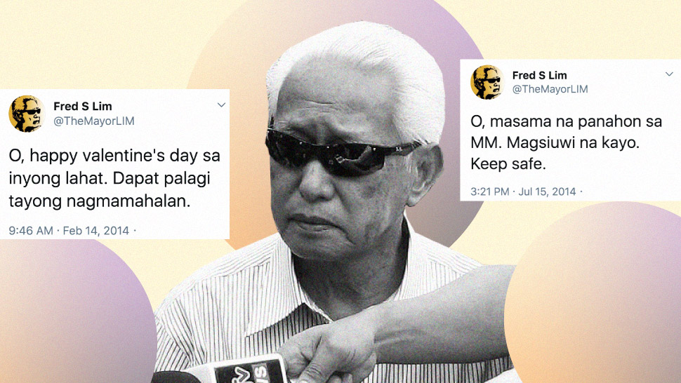 Let's Look Back At Former Manila Mayor Alfredo Lim's Classic Twitter Moments