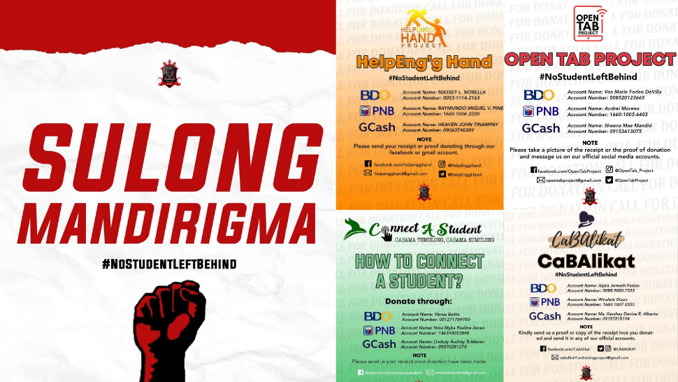 UE Student Leaders Help Financially-Challenged Classmates With 'Sagip Kamag-aral' Projects