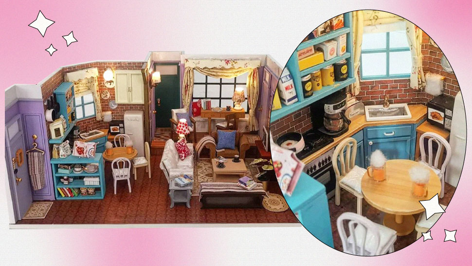 Where to Get This Miniature 'Friends'-Inspired Apartment if You Want to Get Crafty