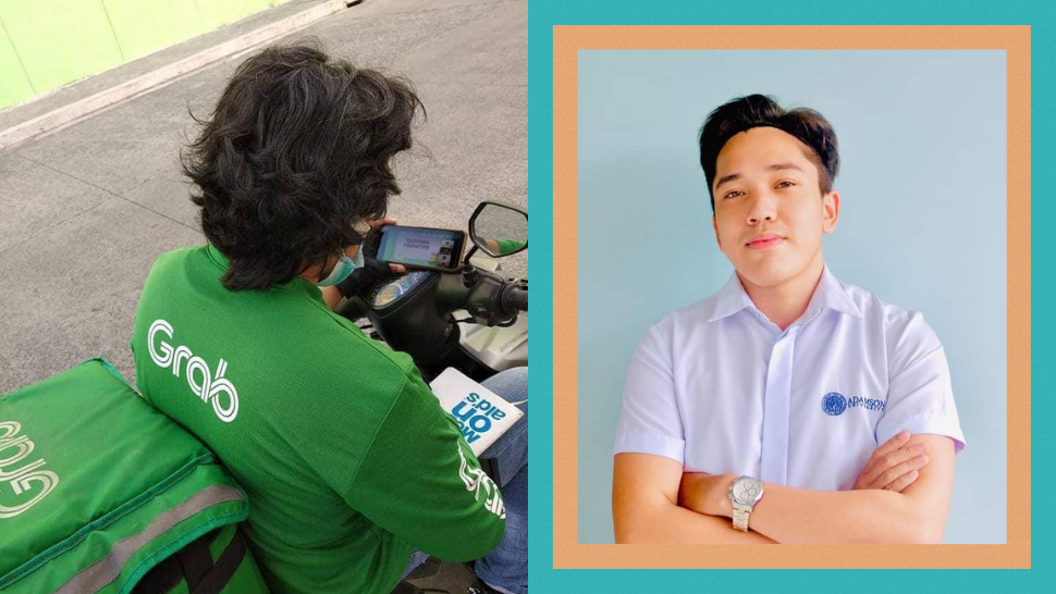 This Grab Driver Attends His Online Classes Between Deliveries