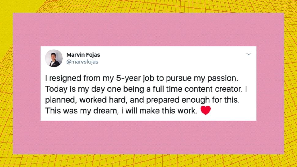 Marvin Fojas Gets Real About Quitting 5-Year Job to Pursue His Passion