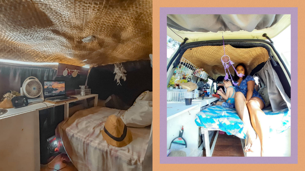 This Mom Transformed Her Van Into a Tiny Home for Only P5,000