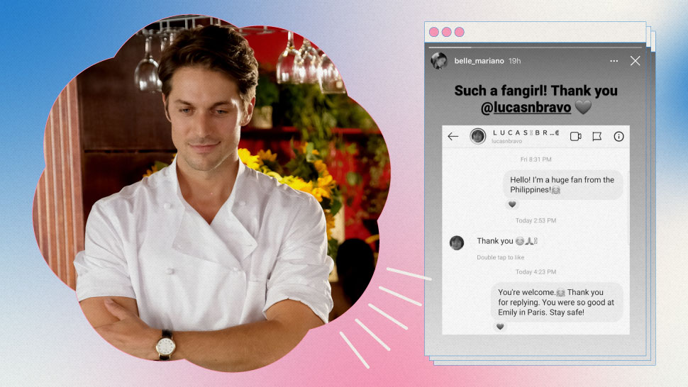 OMG, Lucas Bravo from 'Emily in Paris' Had a Sweet DM Exchange With Belle Mariano