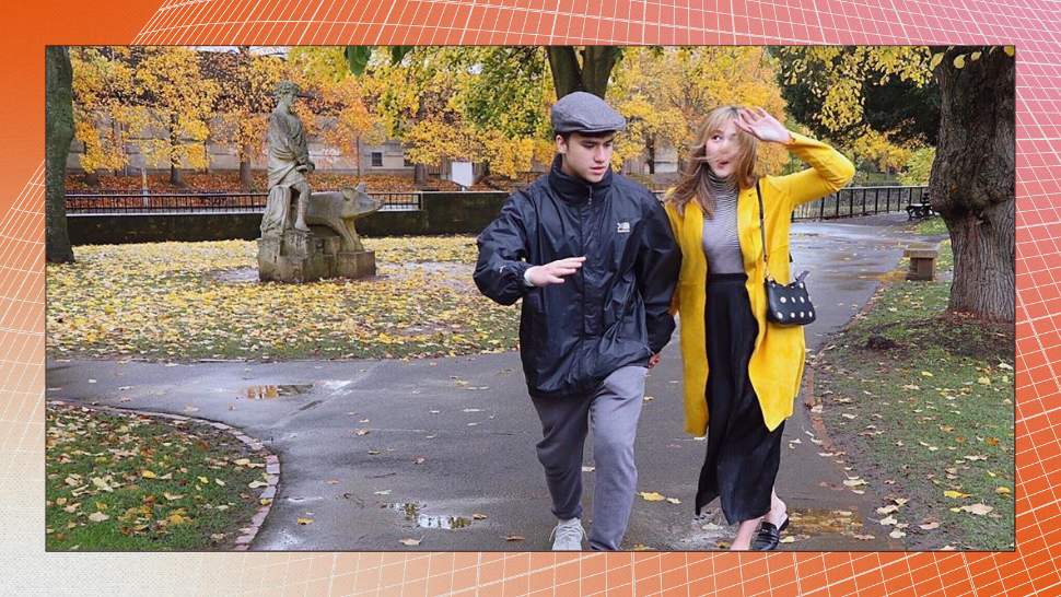 Janella And Markus' *Romantic* Stroll on a Rainy Autumn Day in The UK