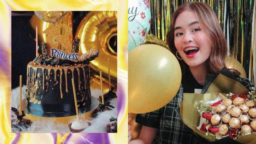 Vlogger Princess Torres Had a Cozy Black and Gold Themed Debut at Home