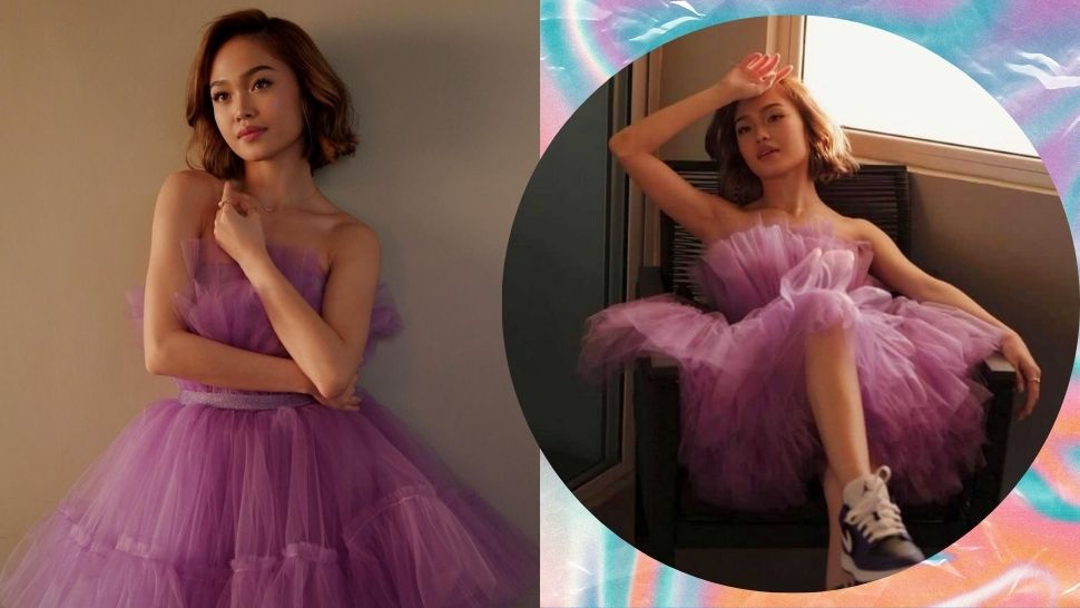 AC Bonifacio Wore Sneakers With Her Dress for Her 18th Birthday Outfit