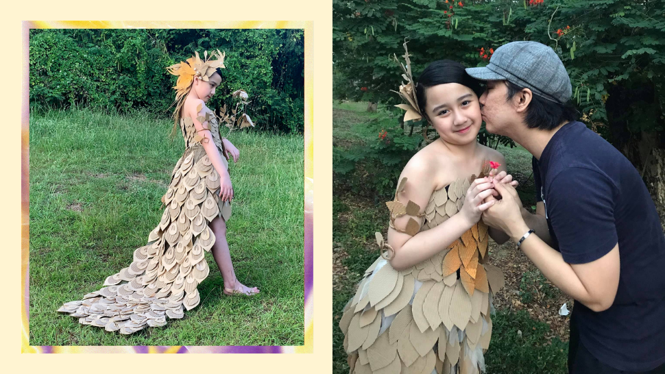 This Former OFW Designed His Daughter's Dress Using Recycled Balikbayan Boxes
